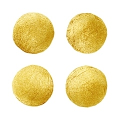 Golden circle stain abstract hand painted gold vector