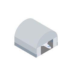 Hangar building icon isometric 3d icon vector