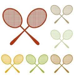 Tennis racquets sign vector
