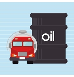 Gasoline truck isolated icon design vector