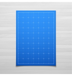 Blue isolated square grid with shadow isolated on vector image
