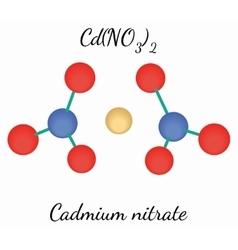 Cadmium nitrate CdN2O6 molecule vector image vector image