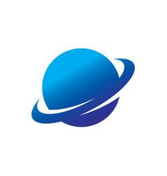 circle globe round logo vector image