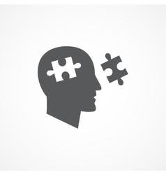 Cognition icon vector image vector image