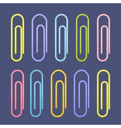 Colorful paperclip icons vector