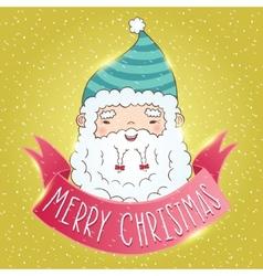Cute Cartoon Chinese Santa Claus vector image