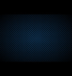 dark abstract background with blue corners carbon vector image