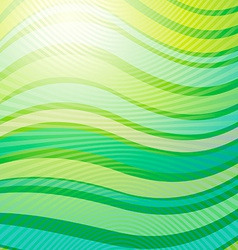 design pattern Green wave abstract light vector image vector image