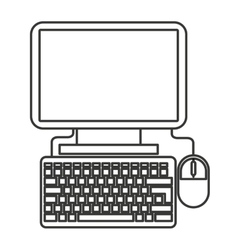 Desktop computer desktop icon vector
