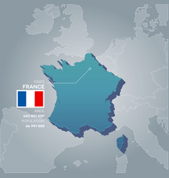 france information map vector image vector image