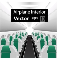 interior of the passenger airplane vector image