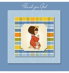 little girl praying vector image