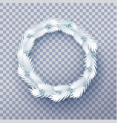 paper christmas wreath with stars vector image vector image