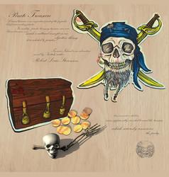 Pirates - Buried treasure vector image vector image