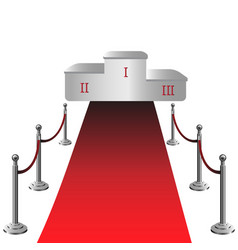 round podium with red carpet vector image vector image