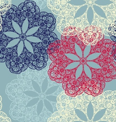 Seamless pattern with circular ornaments like a vector