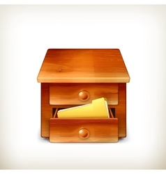 Secretary desk vector image