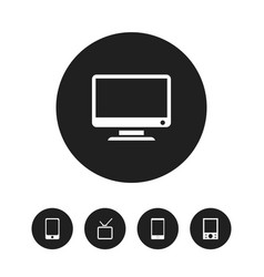 Set of 5 editable instrument icons includes vector