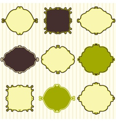 Set of cute vintage frames vector image