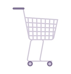 Shopping trolley cart vector image