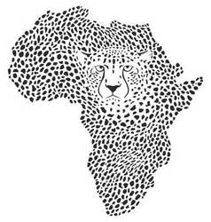 Symbol africa in cheetah camouflage vector