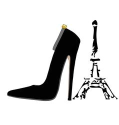 The shoes of paris vector