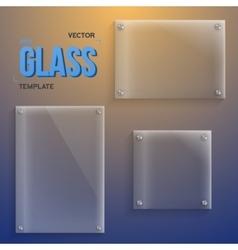 Transparent glass set of realistic vector