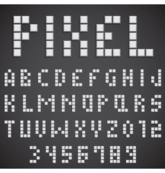 White Pixel Font vector image vector image