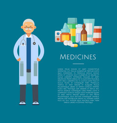 with medical doctor character vector image vector image
