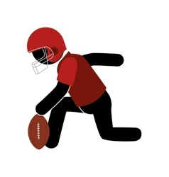 American football player icon vector