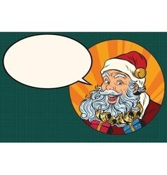 Joyful Santa Claus says vector image