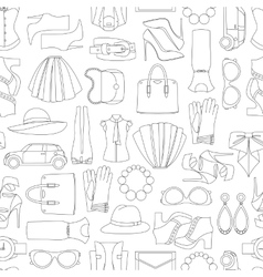 Pattern of fashion objets and trendy vector