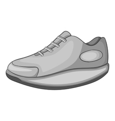Sneakers icon gray monochrome style vector