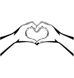 Hands making heart gesture image vector