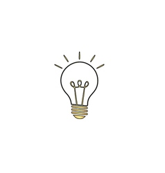 Light lamp computer symbol vector