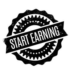 Start earning rubber stamp vector
