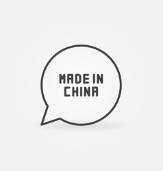 made in china in speech bubble vector image