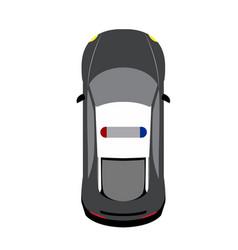 Top view vehicle vector