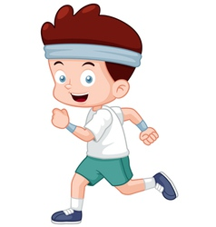 Boy jogging vector image