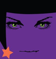 Halloween girl icon vector image