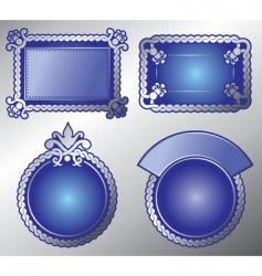 ornate label vector image
