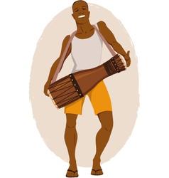 Bata drum musician vector