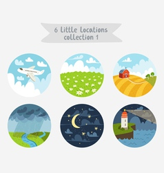 Little locations collection 1 vector