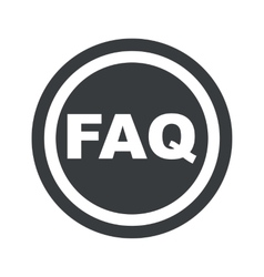 Round black faq sign vector