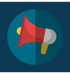 Bullhorn megaphone icon graphic vector