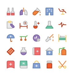 Health colored icons 7 vector