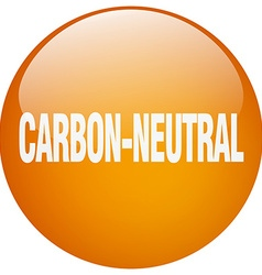 Carbon-neutral orange round gel isolated push vector
