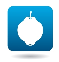 Quince icon in flat style vector image