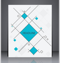 Abstract business brochure flyer geometric design vector