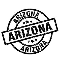 Arizona black round grunge stamp vector